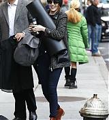 Emma Stone Arriving Studio 54 in NYC - November 11