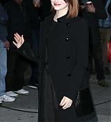Emma Stone Arrives at David Letterman Show - December 15