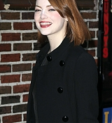 Emma Stone Arrives at David Letterman Show - December 15