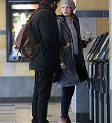 Emma Stone Kissing Boyfriend Andrew Garfield in NYC - November 20