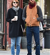 Emma Stone and Andrew Garfield in NYC - October 31