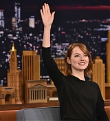 Emma Stone at Late Night With Jimmy Fallon on October 14th