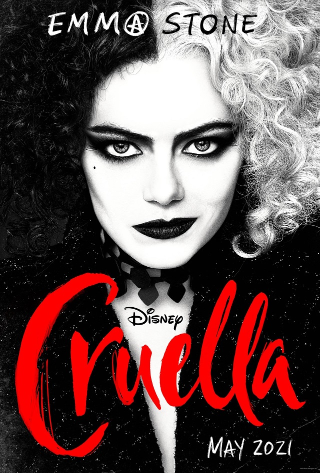 """CRUELLA Trailer And Poster Sees Emma Stone Go Full """"Psycho"""" As The Iconic Disney Villain"""